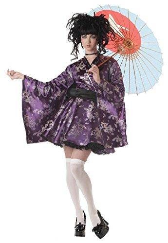 Fancy Lovely Lolita Japanese Geisha Teen Costume (Little Red Riding Hood Halloween Costume Teenager)