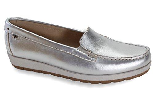 Silver VALLEVERDE Women's Loafer Loafer VALLEVERDE Women's Flats YSvwTY