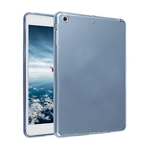 iPad Mini Hülle, Asnlove TPU Schutzhülle Tasche Case Cover Kratzfest Weich Flexibel Silikon Bumper in Matt Crystal Transparent Tablet Schutzhülle für Apple iPad Mini / iPad Mini 2 Retina / iPad Mini 3 blue