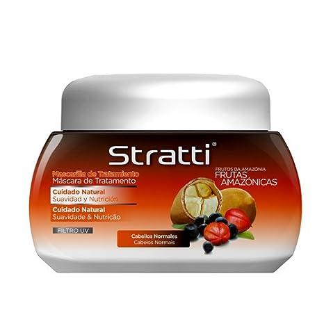 Stratti Frutas Amazónicas - Mascarilla Cuidado Natural con Keratina - 550 gr