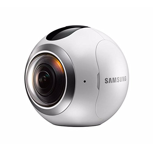 Samsung Gear 360 Degree Spherical Camera (SM-C200) + Micro SD 32GB Spherical Camera SM-C200 for Galaxy S7, S7 Edge, S6, S6 Edge, S6 Edge Plus, Note 5 (International Version - No Warranty)