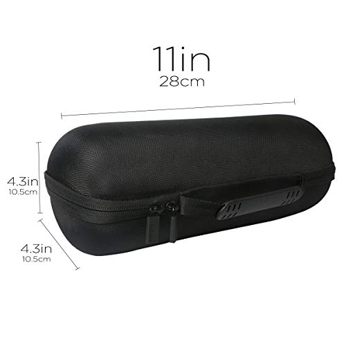 co2CREA Hard Travel Case Replacement for JBL Charge 4 / Charge 5 Waterproof Bluetooth Speaker (Black Case)