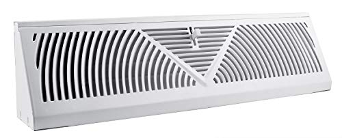 (Accord ABBBWH15 Baseboard Register with Sunburst Design, 15-Inch(Duct Opening Measurement), White)