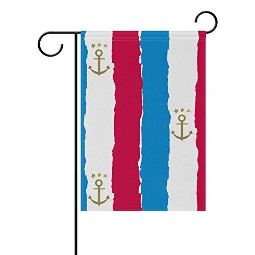 """LEISISI Fashion Anchor Background Garden flag 12""""X18"""" Two Si"""
