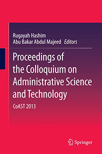 Download Proceedings of the Colloquium on Administrative Science and Technology: CoAST 2013 Pdf