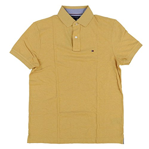 Tommy Hilfiger Mens Custom Fit Mesh Polo Shirt (XL, Yellow) ()