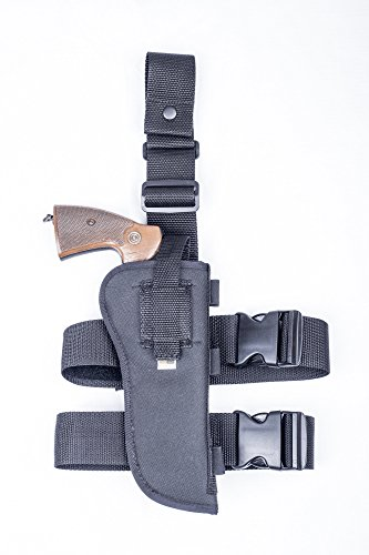 OUTBAGS USA (NTAC12-BK-RH) - Nylon Drop Leg Thigh Holster with Bullet Shell Loops. Fits most 7.5-8