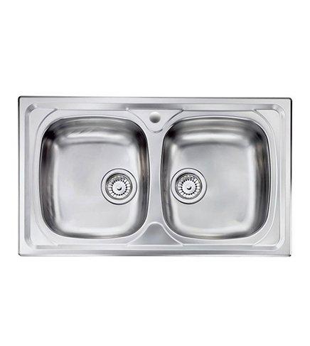 Lavello cucina Siros ad incasso in acciaio Inox, misura cm.86x50 ...