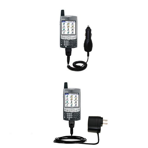 Treo Essentials Kit (Gomadic Car and Wall Charger Essential Kit for the Palm palm Treo 600 - Includes both AC Wall and DC Car Charging Options with)