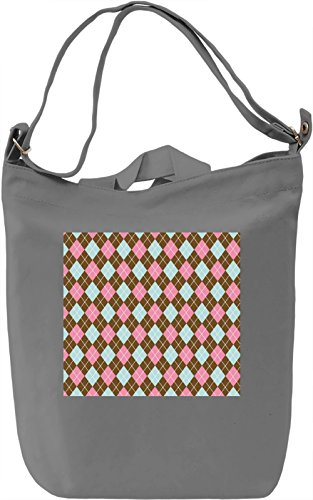 Triangle Pattern Borsa Giornaliera Canvas Canvas Day Bag| 100% Premium Cotton Canvas| DTG Printing|