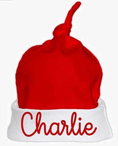 Personalised Names Christmas Baby Santa Hat Set First Christmas Baby Hat 2018 Cute Santa