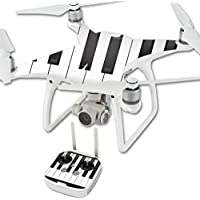 Skin For DJI Phantom 4 Quadcopter Drone – Piano Keys | MightySkins Protective, Durable, and Unique Vinyl Decal wrap cover | Easy To Apply, Remove, and Change Styles | Made in the USA