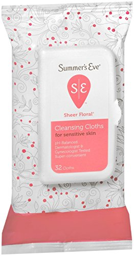 Summers Eve Soft Cloths (Summer's Eve Cleansing Cloths for Sensitive Skin, Floral - 32 ct)