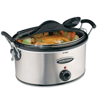 Hamilton Beach 33162H Stay-or-Go 6-Quart Stainless-Steel Slow Cooker