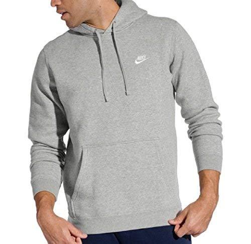 Nike Men's Club Fleece Pullover Hoodie (Dark Gray Heather, Small)