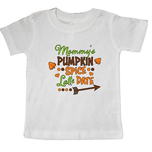 (inktastic Mommy's Pumpkin Spice Latte Date Baby T-Shirt 24 Months White)