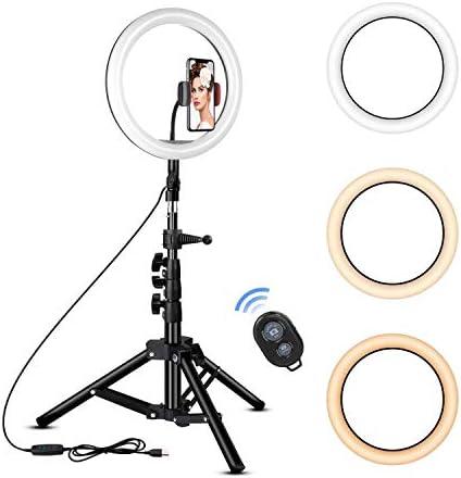 [해외]Rovtop 25.4cm 링 라이트 스탠드 삼각대 LED 휴대폰 홀더 셀카 카메라 사진 메이크업 비디오 라이브 스트리밍 / Rovtop 25.4cm 링 라이트 스탠드 삼각대 LED 휴대폰 홀더 셀카 카메라 사진 메이크업 비디오 라이브 스트리밍