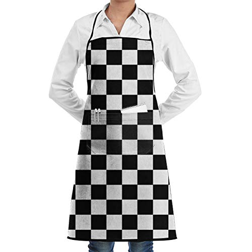 - Crafting Restaurant Crafting Kitchen Apron Visible Center Pocket Waterdrop Resistant Fashion Apron Boys Girls - Race Waving Checkered Flag Apron Waiter Hostess Apron