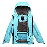 Wantdo Girl's Windproof Warm Rain Jacket Thick