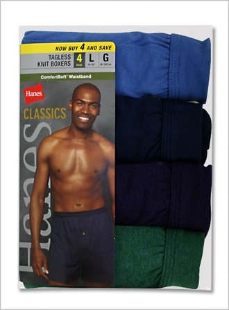 Hanes Knit Boxers - 4