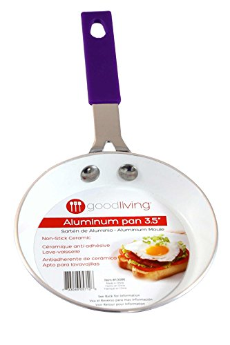 Good Living 3.5-Inch Fast-Heating Aluminum Single-Egg Pan, Purple, 1-pack