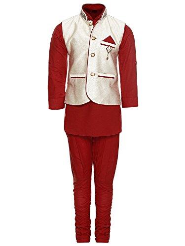 AJ Dezines Kids Kurta Pyjama and Waistcoat Set for Boys(829_