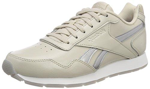 Reebok WoMen Royal Glide Fitness Shoes Beige (Stucco/Silver Metallic/White)