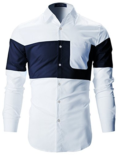 dress shirts two tone - 6