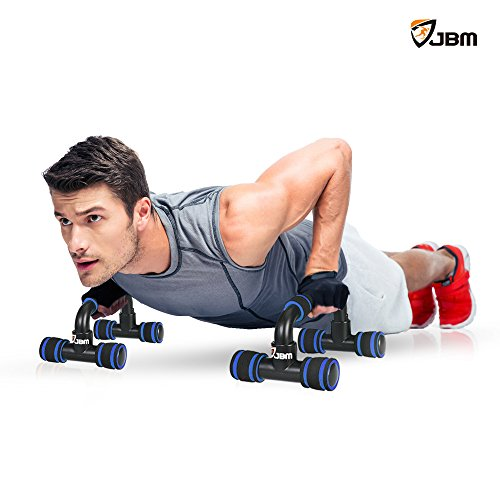 JBM Perfect Muscle Push up Pushup Bars Stands Handles Aid Equipment for Men and Women Pushups Pushup Push up Workout Pairs of Slip resistant Polypropylene Push up Exercise Benefits for Muscles Chest