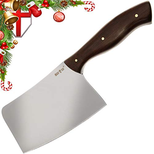 Chinese Chef's Vegetable and Meat Cleaver - Chopper - Butcher Knife - Heavy Duty Bone Chopper for Home, Kitchen & Restaurant - Grand Way 3180 ACW-P (Grande Kitchen)