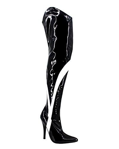 Wonderheel stiletto heel Lack fetisch over-knee stiefel crotch stiefel