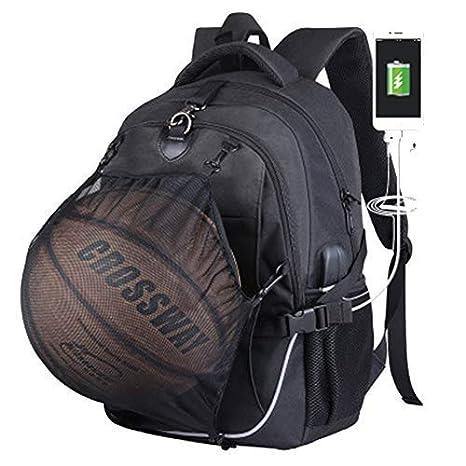 Belingeya Mochila de Baloncesto con USB de Carga para la Escuela ...