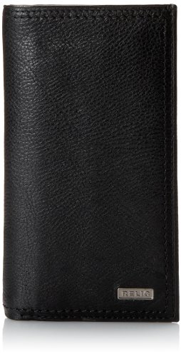 Check Leather Wallet (Relic Men's Mark Checkbook Wallet, Black, One Size)