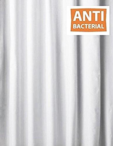WG - Cortina de ducha (tejido antibacteriano, extralarga y ...