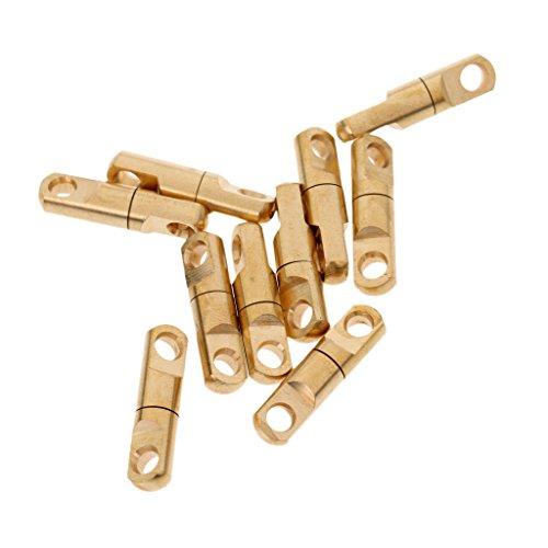 Swivel Brass Solid (MagiDeal 10 Pcs Brass Heavy Duty Swivel Solid Rings Fishing Connector 3.5mm/4mm/6mm - 4mm)