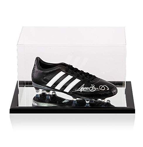 Graeme Souness Signed Football Boot Adidas In Acrylic Case Autograph Autographed Soccer Cleats