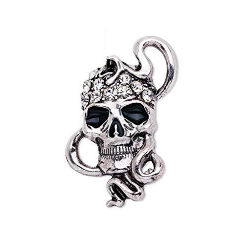 Gothic Skull Skeleton Heads Brooch Pin Halloween Jewelry Vintage Cosplay Brooch (Item - 15) -