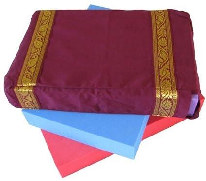 Amazon.com : 100% cotton Yoga Block Cover - AUBERGINE ...