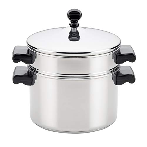 Farberware 70043 Stack 'N' Steam 3-Qt. Covered Saucepot Insert Stainless Steel Steamer Set, 3-Quart (Stainless Steamer)