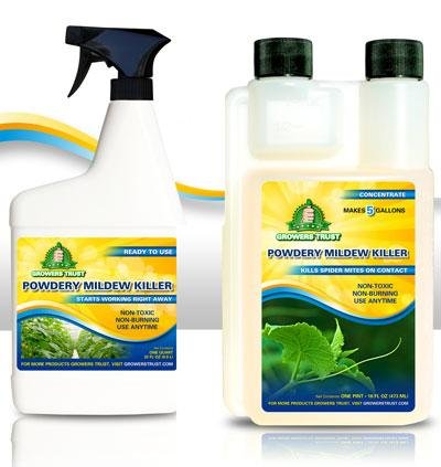 Garden Fungicide 3 Safe (Growers Trust Powdery Mildew Killer Non-toxic, Biodegradable - Natural Fungicide -Treatment solution Makes 1 Gallon RTU)