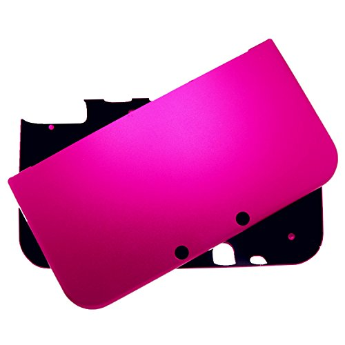 Br   For New Nintendo 3Ds Xl Case Cover Full Aluminum Metal Protector   Free Screen Protectors  Hot Pink