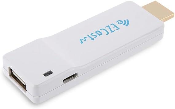 XDTT Ezcast Alambre TV Dongle Am8251 convertidor de HDMI WiFi Miracast Airplay DLNA Stick de TV Soporte de Youtube para Libre 1080P Full HD: Amazon.es: Electrónica