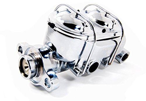 "Chrome Cast Iron Brake Master Cylinder 1 1/8"" Bore with 4 Ports"