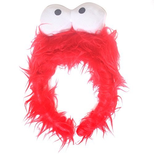 [Kids Red Monster Furry Costume Headband] (Red Furry Monster Costume)