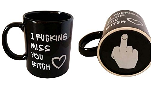 Amazing 2015 Funny Morning Mug- I F miss you bitch, red heart - 11 OZ Coffee Mugs- Unique Gifts For Halloween,Christmas, Birthday -