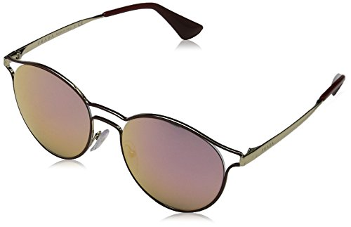 Prada Cinema PR62SS Sunglasses USH5L2-53 - Bordaux/pale Gold Frame, Grey Mirror - 2017 Prada Sunglasses Cinema