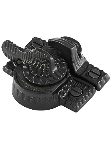 House of Antique Hardware R-09SE-135-BP Cast Iron Eastlake Style Sash Lock in Matte Black