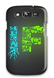 Shock-dirt Proof Colours Of Life Case Cover For Galaxy S3