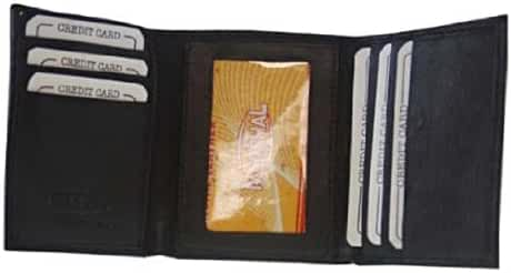Genuine Leather Trifold Mens Wallet W/Card Holder #1145