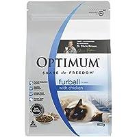 Optimum Adult Furball Chicken Flavour Cat Food 800 g 1 Pouch Medium